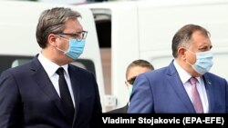 Aleksandar Vučić i Milorad Dodik, arhivska fotografija