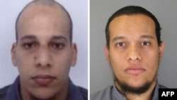 Ֆրանսիա - «Շառլի Էբդո»-ի դեմ հարձակման գործով կասկածյալներ 34-ամյա Սաիդ (աջից) և 32-ամյա Շերիֆ Կուաչի եղբայրների լուսանկարները, որոնք հրապարակել է ոստիկանությունը, 8-ը հունվարի, 2015թ․