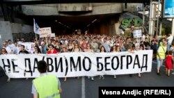Protest građana Srbije zbog rušenja objekata u naselju Savamala, Beograd, 25. jun 2016.