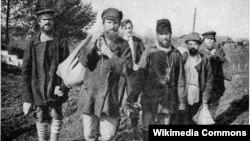 Rus kəndçiləri - 1918