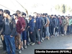 Migranti u 'Vučjaku' 29.novembra