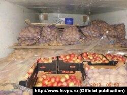 """Прибывшие из Беларуси в Россию и признанные """"санкционными"""" яблоки"""