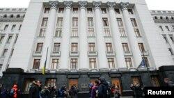 Arxiv fotosu: Kiyevdə Prezident Administrasiyasının binası.