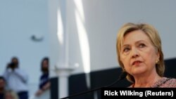 U.S. Democratic presidential candidate Hillary Clinton comments on the just-released Benghazi report as she speaks at Galvanize, a learning community for technology, in Denver, U.S. June 28, 2016.