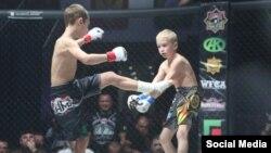 9-летний Зелимхан Кадыров на ринге