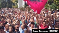 Демонстрація у Приштині проти розгляду угоди з Чорногорією, 1 вересня 2016 року