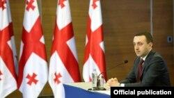Վրաստանի վարչապետ Իրակլի Ղարիբաշվիլին Թբիլիսիում ասուլիսի ժամանակ, արխիվ