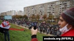 «Партызанскі марш» у Менску. ШМАТ ФОТА