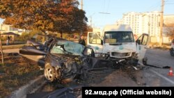 Севастополь, ДТП на улице Руднева, 19 октября 2016 года