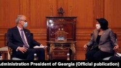 Первую встречу шведский дипломат провел с президентом Грузии Саломе Зурабишвили