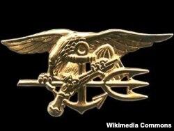 """Значок с эмблемой американских """"морских котиков"""""""