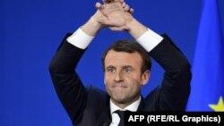 Францияның президент сайлауында жеңіске жеткен Эммануэль Макрон.
