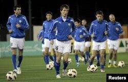 Национальная сборная Узбекистана по футболу. Доха, 24 января 2011 года.