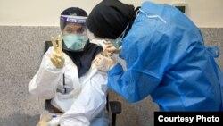 İranda vaksinasiya