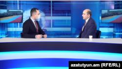 Лидер оппозиционной партии «Просвещенная Армения» и глава одноименной парламентской фракции Эдмон Марукян в студии Азатутюн ТВ, 23 декабря 2020 г.