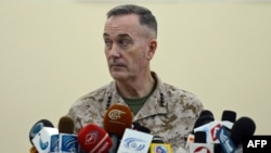 The commander of the international coalition in Afghanistan, General Joseph Dunford