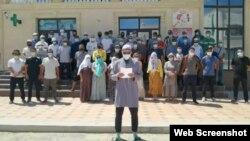 Скриншот видеообращения бастующих работников АBUEV GROUP