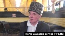 Черкесский старейшина Руслан Гвашев вскоре после трехнедельной голодовки
