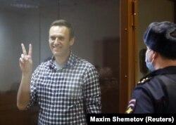 А. Навальный Москва шаардык сотунун отурумунда. 2021-жылдын 20-февралы.