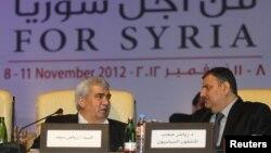 Pjesëtarë të opozitës siriane...