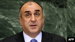 U.S. -- Azerbaijan's Foreign Minister Elmar Mammadyarov addresses the Millennium Development Goals Summit at the United Nations headquarters in New York, 20Sep2010