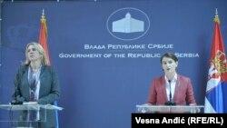 Premijerke RS i Srbije Željka Cvijanović i Ana Brnabić na sastanku u Beogradu 10. novembra