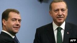 Дмитрий Медведев и премьер Турции Реджеп Эрдоган