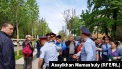 Затрыманьні ў Алматы
