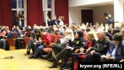 Зустріч вимушених переселенців із представниками міністерства соціальної політики України, 2 квітня 2015 року