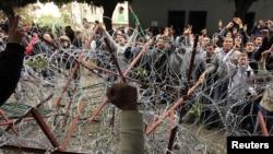 Слика од неодамнешните протести во Тунис