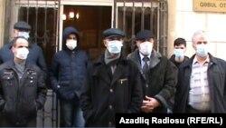 Azerbaijan. Baku. Protest action Hilal Mammadov
