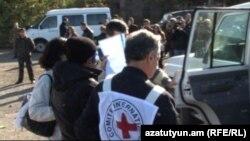 Armenia - Telman Aliyev, an Azerbaijani civilian who crossed into Armenia, is sent back to Azerbaijan, 30Nov2012.