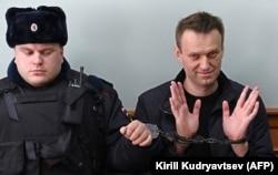 Алексей Навальный в суде. Москва, 30 марта 2017 года