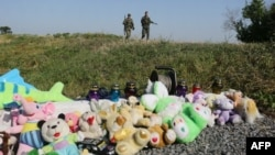 Підтримувані Росією бойовики біля місця падіння літака, 17 липня 2016 року