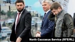 Глава Чечни Рамзан Кадыров (справа), 5 октября 2018 года, иллюстрационное фото