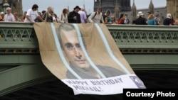 Акция в поддержку Михаила Ходорковского в Лондоне