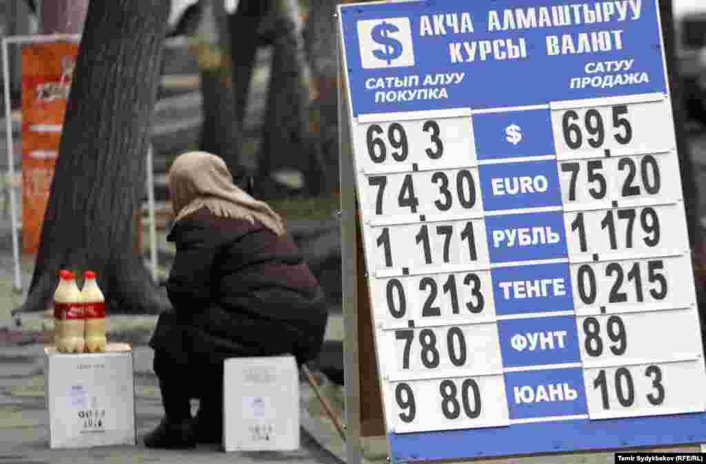 Kyrgyzstan - currency exchange, dollar, som, Mossovet, money, generic, undated