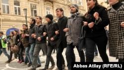 Участники акции «11 марта – день великого народа» в Баку