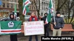 Митинг памяти жертв сталинской депортации в Хельсинки (архивное фото)