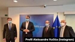 Predstavnici Beograda i Prištine tokom jedne od prethodnih rundi razgovora uz posredstvo EU
