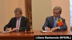 La semnarea acordurilor la Chișinău