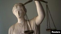 Skulptura Pravde - ilustracija