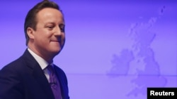 Prime Minister David Cameron after his speech on the European Union in central London on January 23.