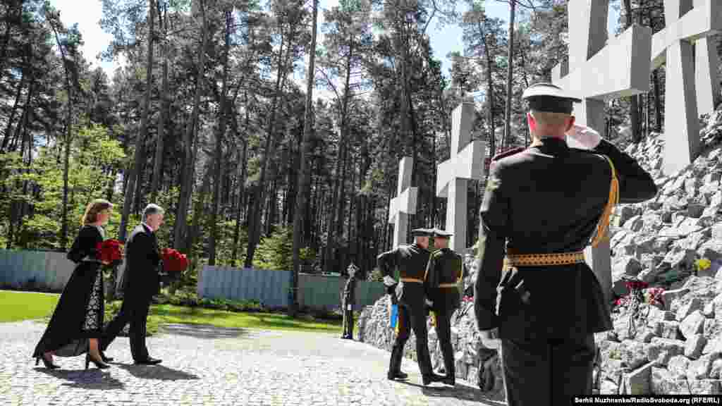 """UKRAINE – In honor of the memory of victims of political repression in the territory of the national historical-memorial reserve """"Bykovnyansk graves"""". Bykovnya, May 19, 2019"""