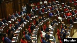 Armenia - The newly elected National Assembly holds its first sitting in Yerevan, 18May2017.