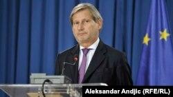 Еврокомесарот за преговори за проширување Јоханес Хан.