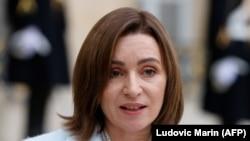 Președinta Maia Sandu (foto arhivă, februarie 2021).
