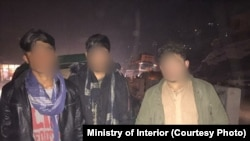 شماری از افراد متهم به جرایم جنایی که از سوی نیروهای امنیتی بازداشت شده اند