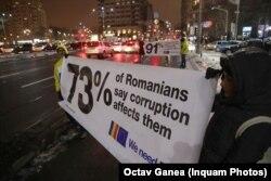 Protest în Piața Victoriei, București, 10 ianuarie 2019