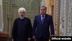 Эмомали Рахмон и Хасан Роухани. Душанбе, 15 июня 2019 года